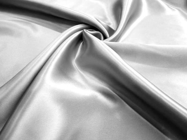 Jedwab satyna doppio premium srebro