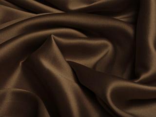 Jedwab satyna czekoladowy brąz