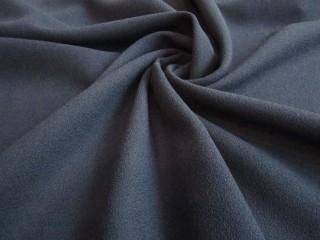Wełna sukienkowa crepella premium ciemny granat