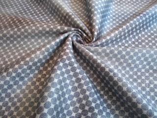 Bawełna kostiumowa z jedwabiem niebieski print