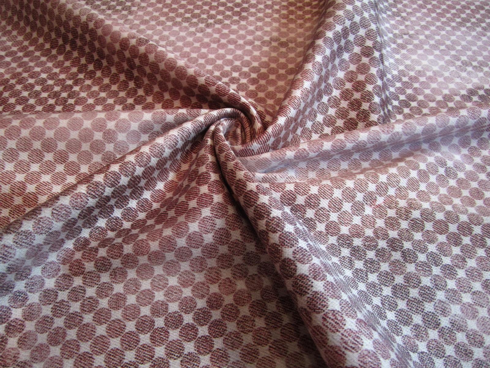 Bawełna kostiumowa z jedwabiem róż indyjski print