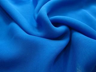 Szyfon jedwabny  niebieski lazurowy