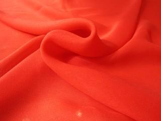 Szyfon jedwabny  oranż nasycony