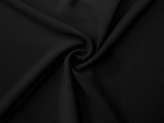 Krepa z elastanem Rosario głęboka czerń