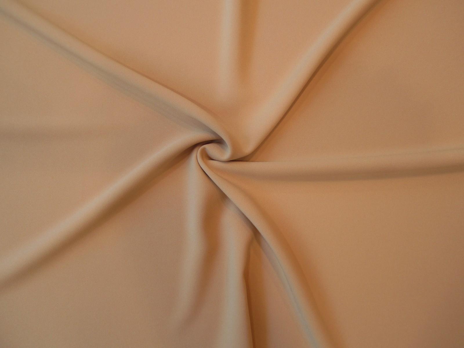 Krepa z elastanem Rosario morelowy orzech