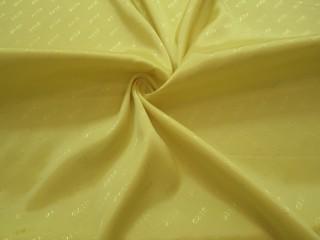 Podszewka wiskozowa żakard żółty cytrynowy