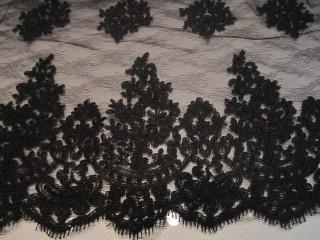 Luksusowa koronka koderowa czarna