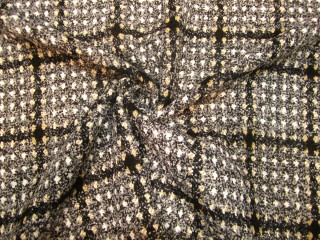 Luksusowa chanelka popiel szarość biel złota kratka