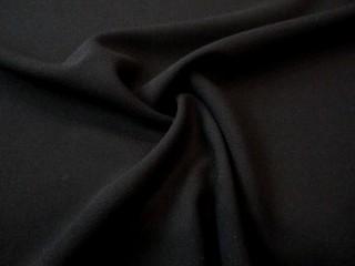 Wełna sukienkowa premium crepella głęboka czerń