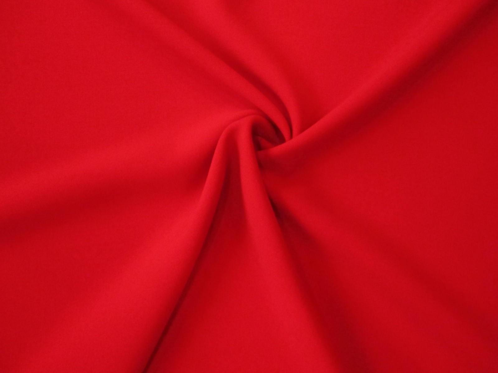 Wełna premium doppio crepe sable czerwień klasyczna