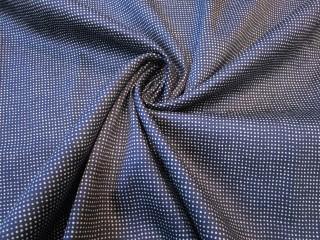 Bawełna z lycrą ciemny granat drobne kropeczki KUPON