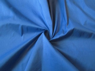 Jedwab szantung tafta niebieski lazur indygo
