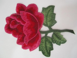 Róża premium malinowo czerwona haft