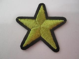 Gwiazda złoto czerń haft termo