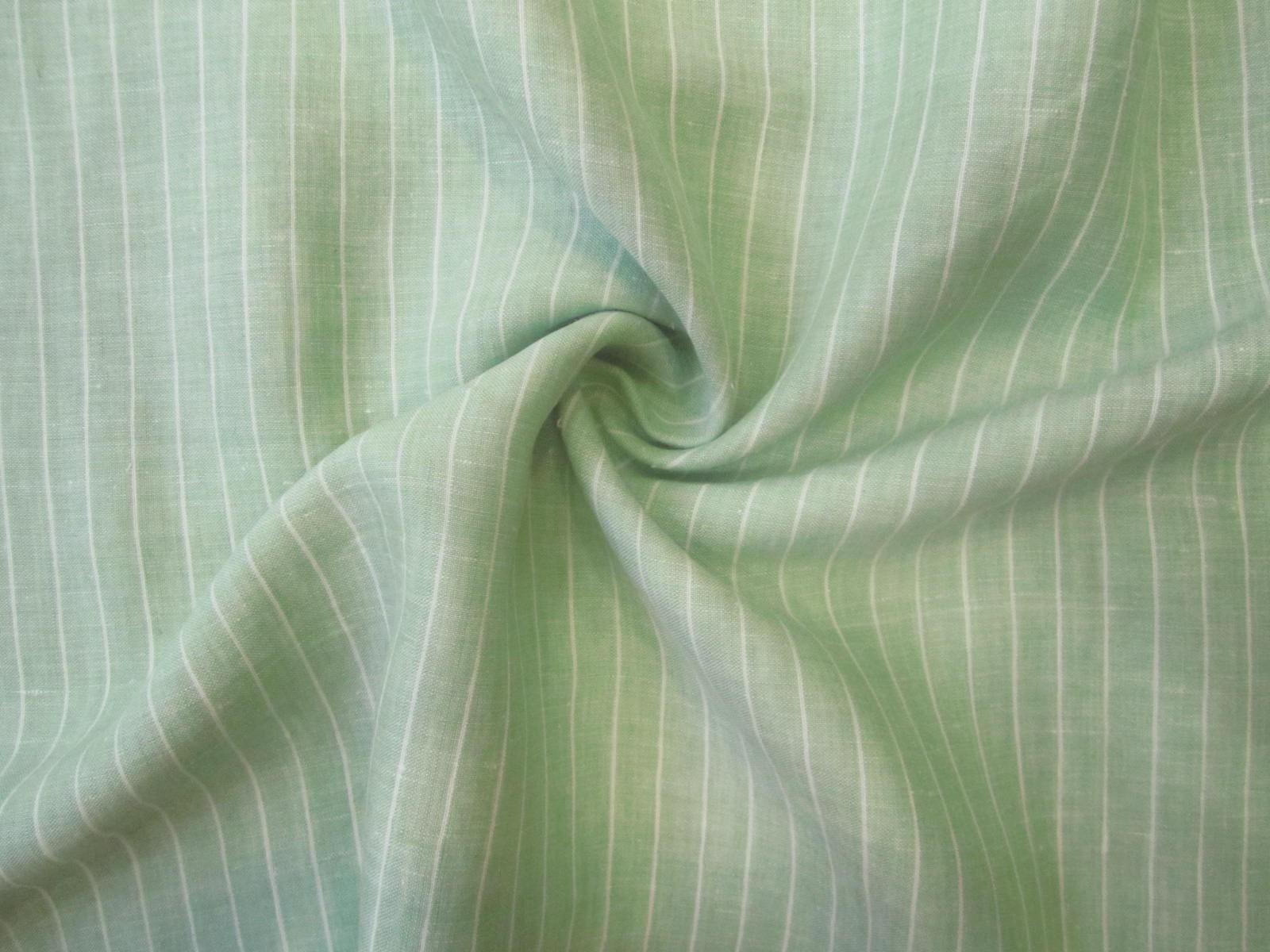 Len naturalny zielony groszek pastel