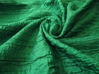 Ekskluzywny francuski jedwab drapee zieleń szmaragdowa