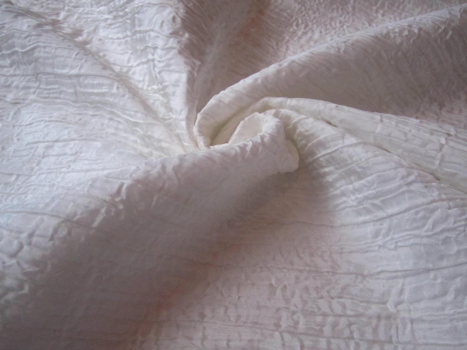 Ekskluzywny francuski jedwab drapee biel śmietankowa