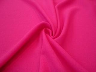 Wełna sukienkowa crepella premium róż fluo
