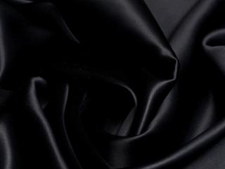 Satyna jedwabna głęboka czerń z lycrą