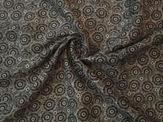 Krepa wiskozowa drobny wzór czerń biel