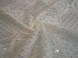 Koronka wieczorowa Alta moda biała nowoczesna KUPON
