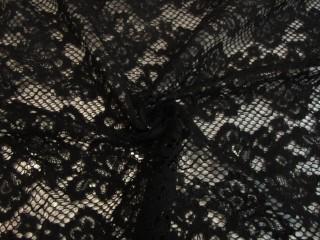 Koronka wieczorowa Alta moda czarna nowoczesna KUPON