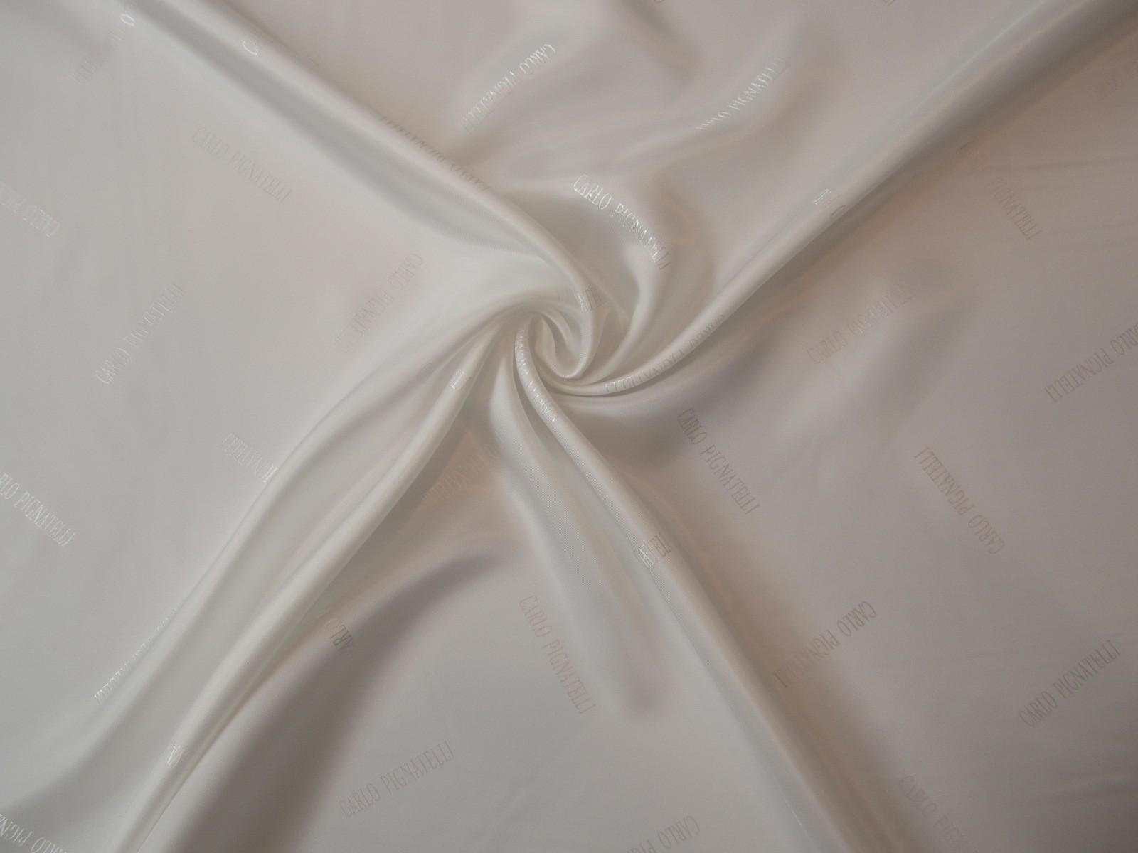 Podszewka wiskozowa żakard biel śmietanka