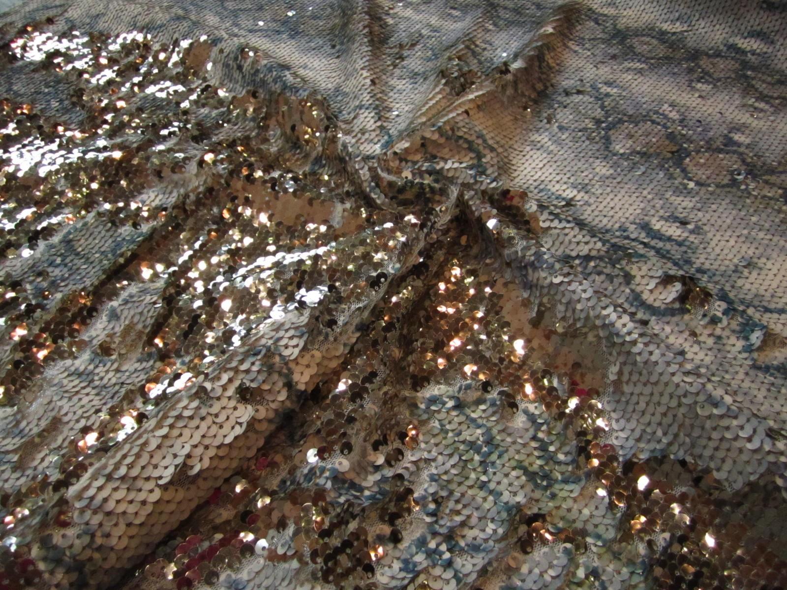 Luksusowe cekiny granat popiel złoto