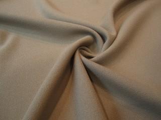 Wełna sukienkowa crepella premium taupe KUPON