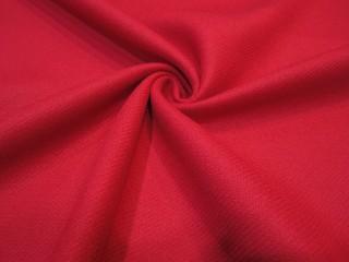 Wełna kaszmir intensywna czerwień klasyczna KUPON