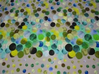 Bawełna z lycrą popielato limonkowy print