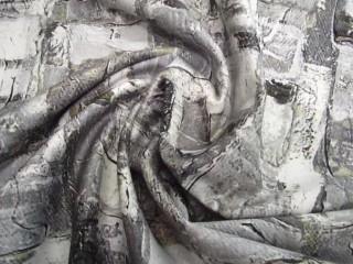 Bawełna z lycrą stalowy print