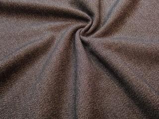 Tweed z kaszmirem i lycrą premium grafit czerń