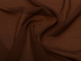 Szyfon jedwabny czekoladowy brąz