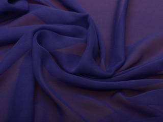Szyfon jedwabny indygo niebieski