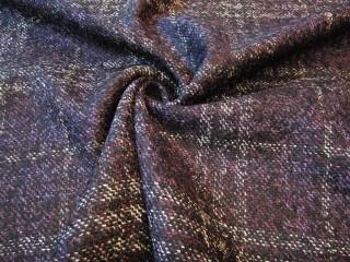 Wełna tweed kaszmir jedwab fioletowa
