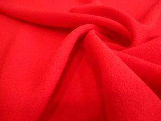 Wełna sukienkowa crepella premium czerwień klasyczna