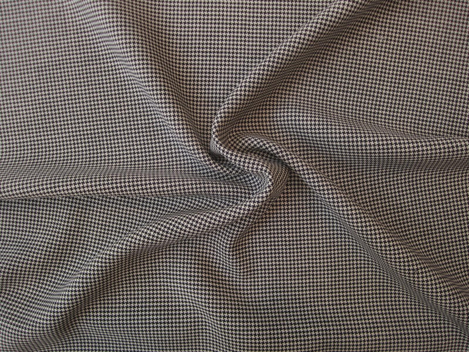 19cf66682341b8 Wełna z jedwabiem mini pepitka biel czerń - Binassi