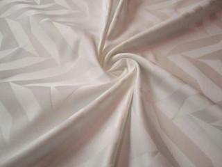 Żakard bawełniany z jedwabiem biała perłowa geometria KUPON