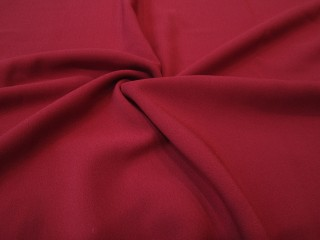 Krepa z elastanem Rosario ciemna czerwień
