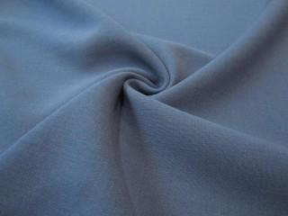 Wełna premium doppio crepe sable niebieski jeansowy