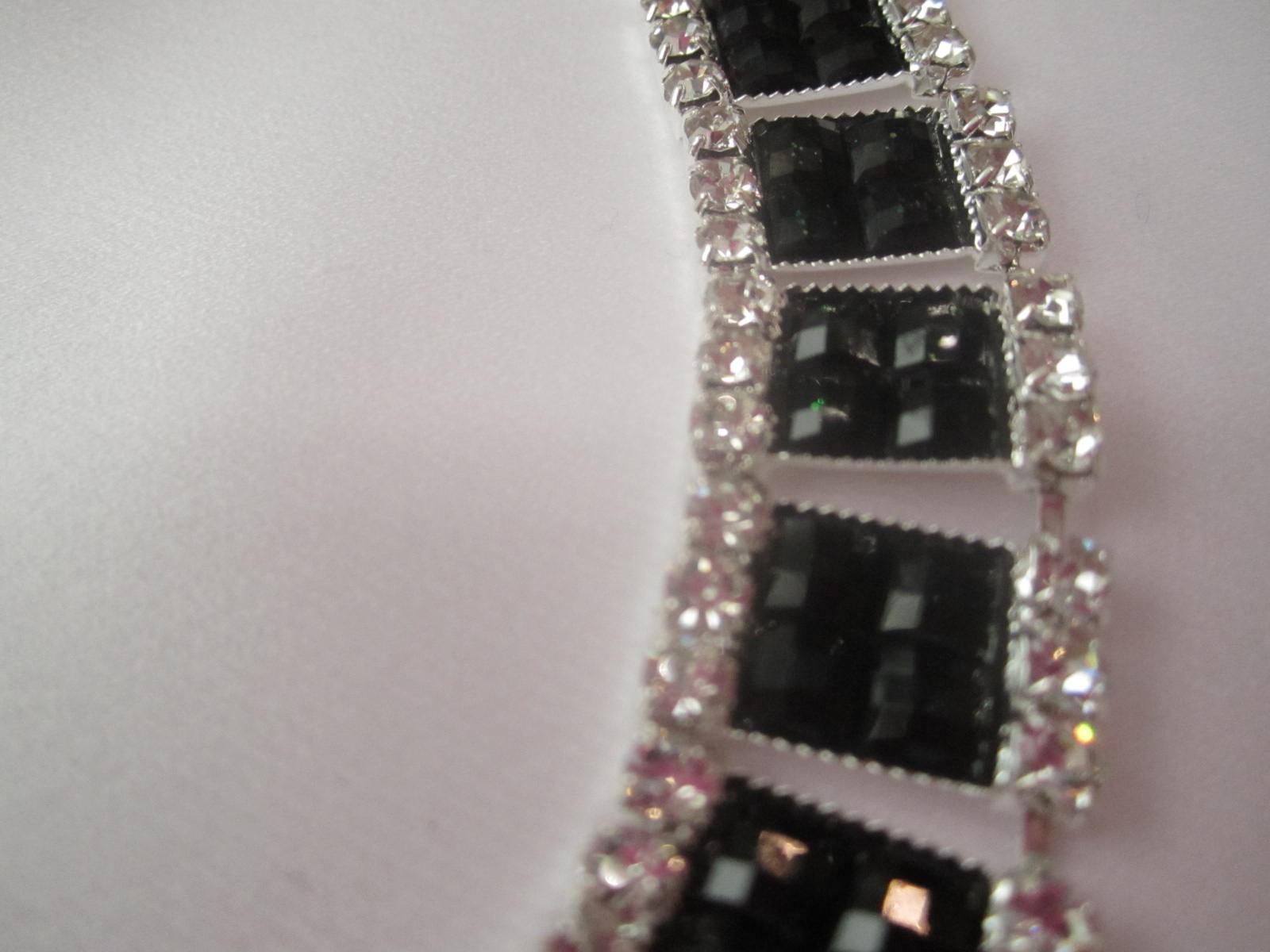 W Mega Taśma kryształowa ozdobna czerń biel Swarovski - Binassi VH61