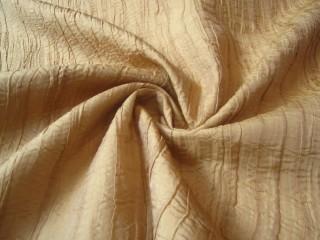 Ekskluzywny francuski jedwab drapee złoty beż jasny