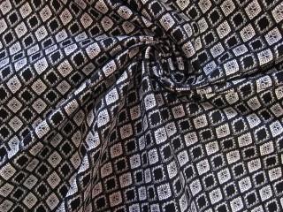 Bawełna z lycrą drobny wzór lata 60-te
