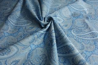Bawełna z jedwabiem etro delikatne błękity KUPON